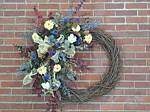 Grapevine Wreath w/ Artificial Flowers